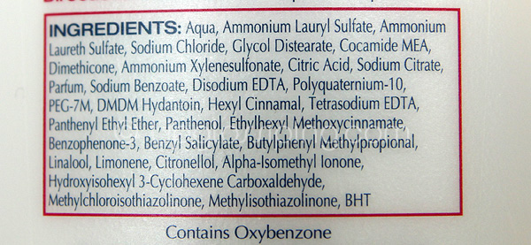 Hair Care Ingredients In Shampoo