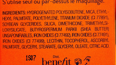 Benefit Watts Up Ingredients