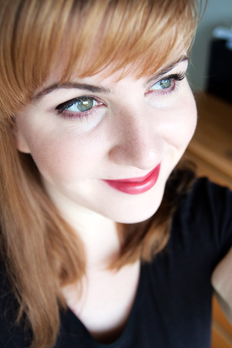 Clarins-135-Rouge-Prodige-Dark-Cherry-Lipstick-FOTD