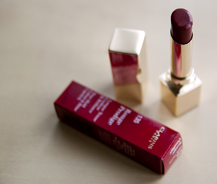 Clarins 135 Rouge Prodige Dark Cherry Lipstick_02