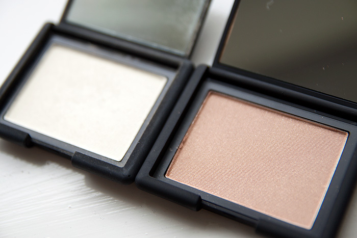 NARS Highlighting Blush Powder Satellite of Love vs. NARS Albatross
