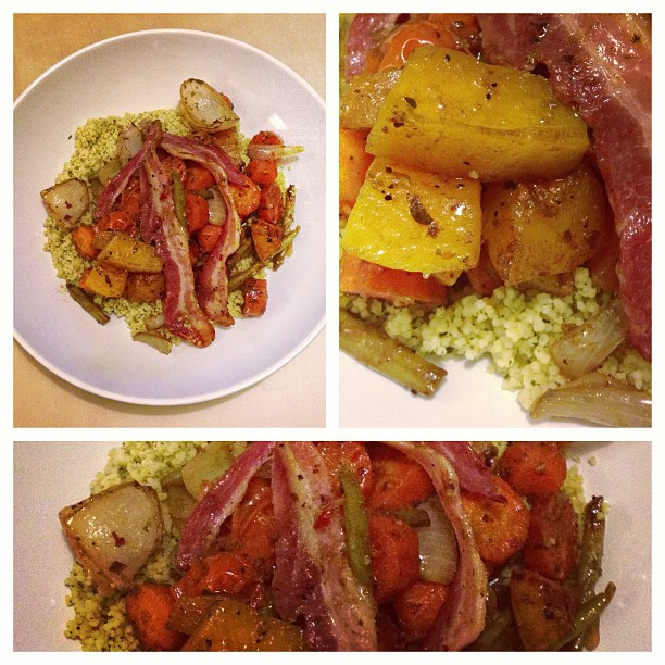 balsamic roasted veg on cous cous weight watchers