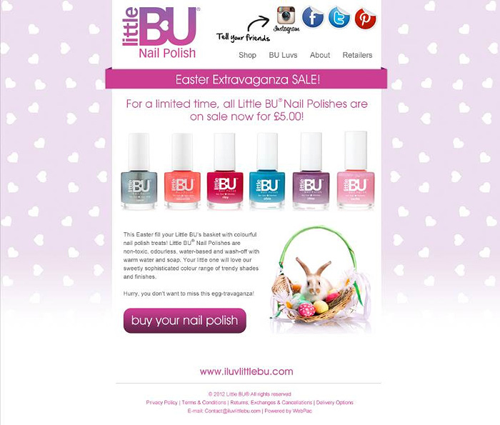 Advance Sale Warning! Little BU Nail polishes, £5 each...