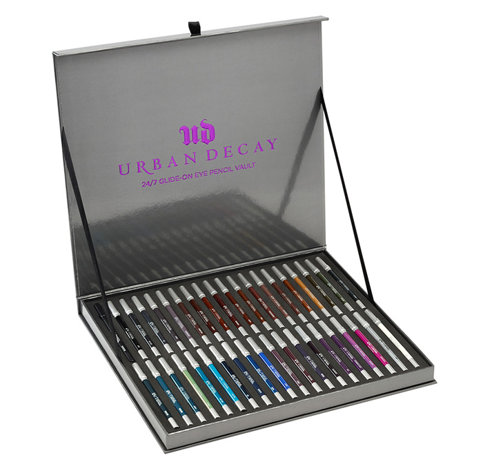 247_eyelinervaultThe Urban Decay 24/7 Glide-On Eye Pencil Vault exclusively at Debenhams.com
