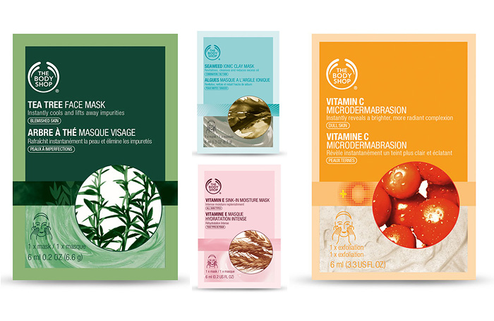 Pick up a pick-me-up with The Body Shop face masks!