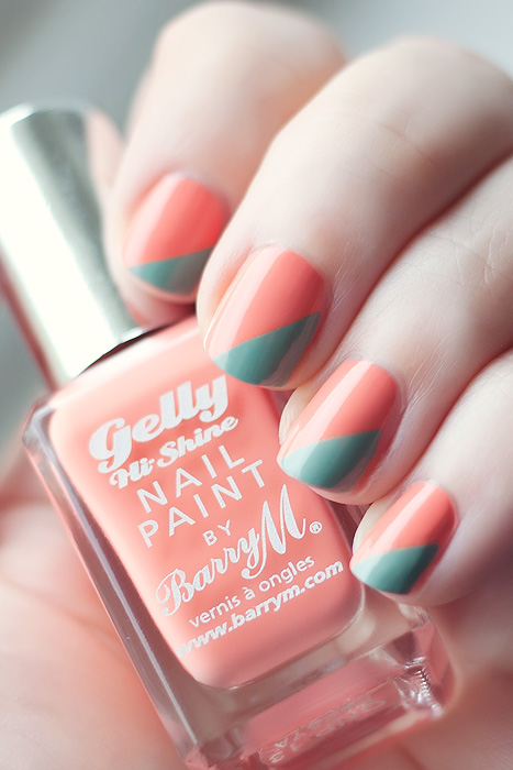 A graphic NOTD from BarryM Gelly Papaya!
