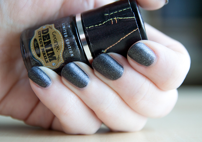 Denim Nails Asda Black