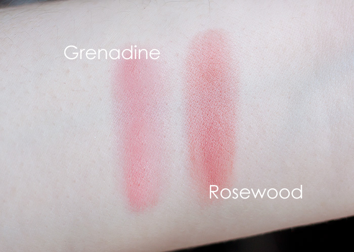 Clarins Cream Blush Grenadine Rosewood Swatches