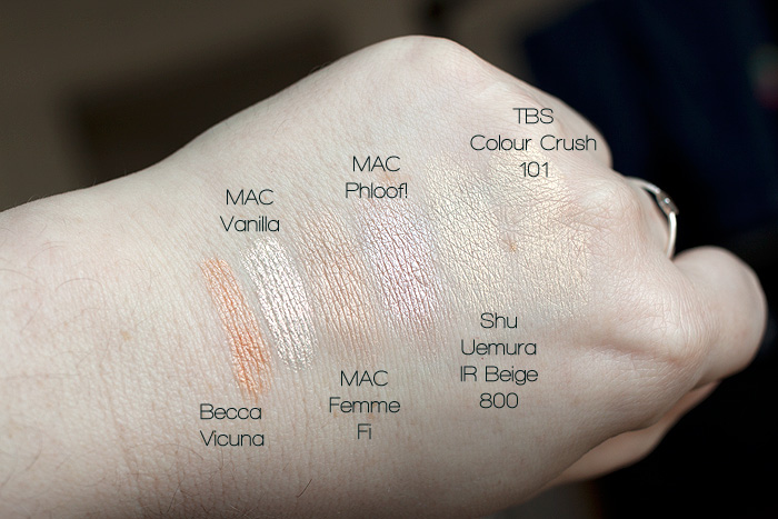 Favourite Highlighting eyelid shades eyeshadow