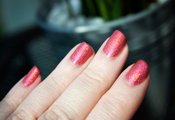 Layla Shocking Pink Hologram Holographic Nail Polish