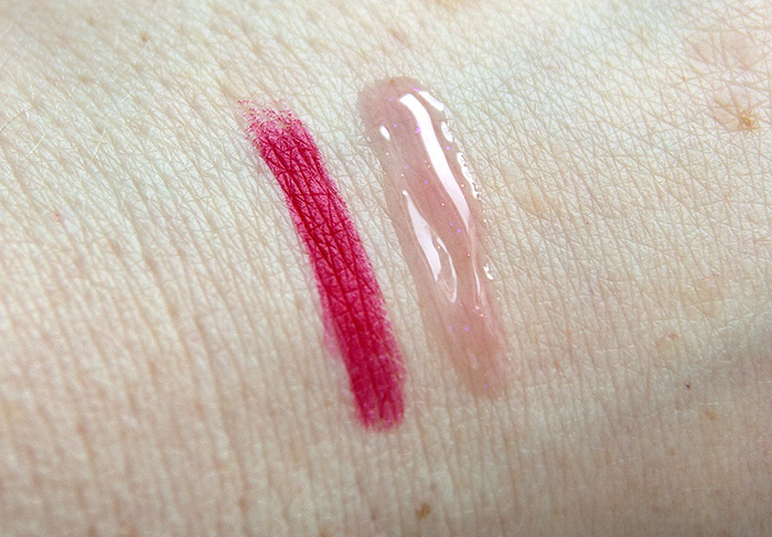 RMK W Crayon and Gloss Lips 01 Swatch
